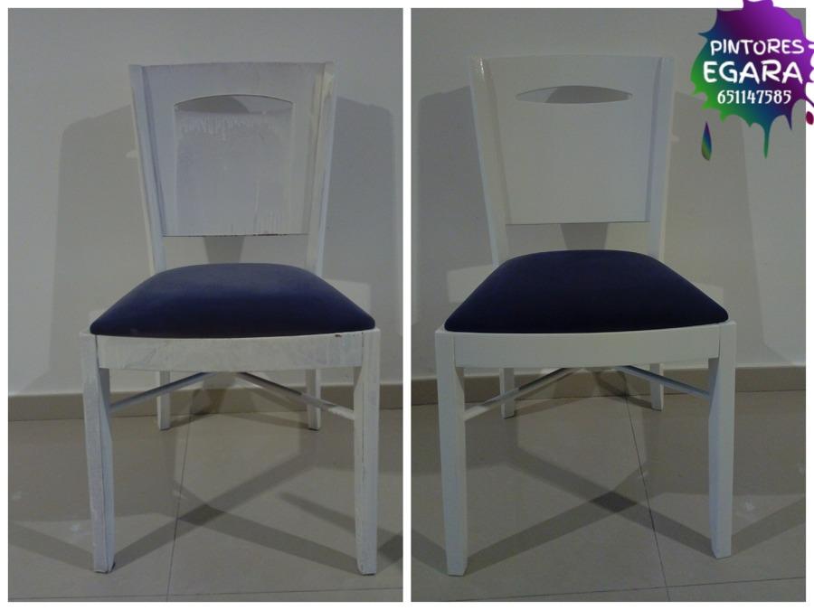 Lacado de sillas