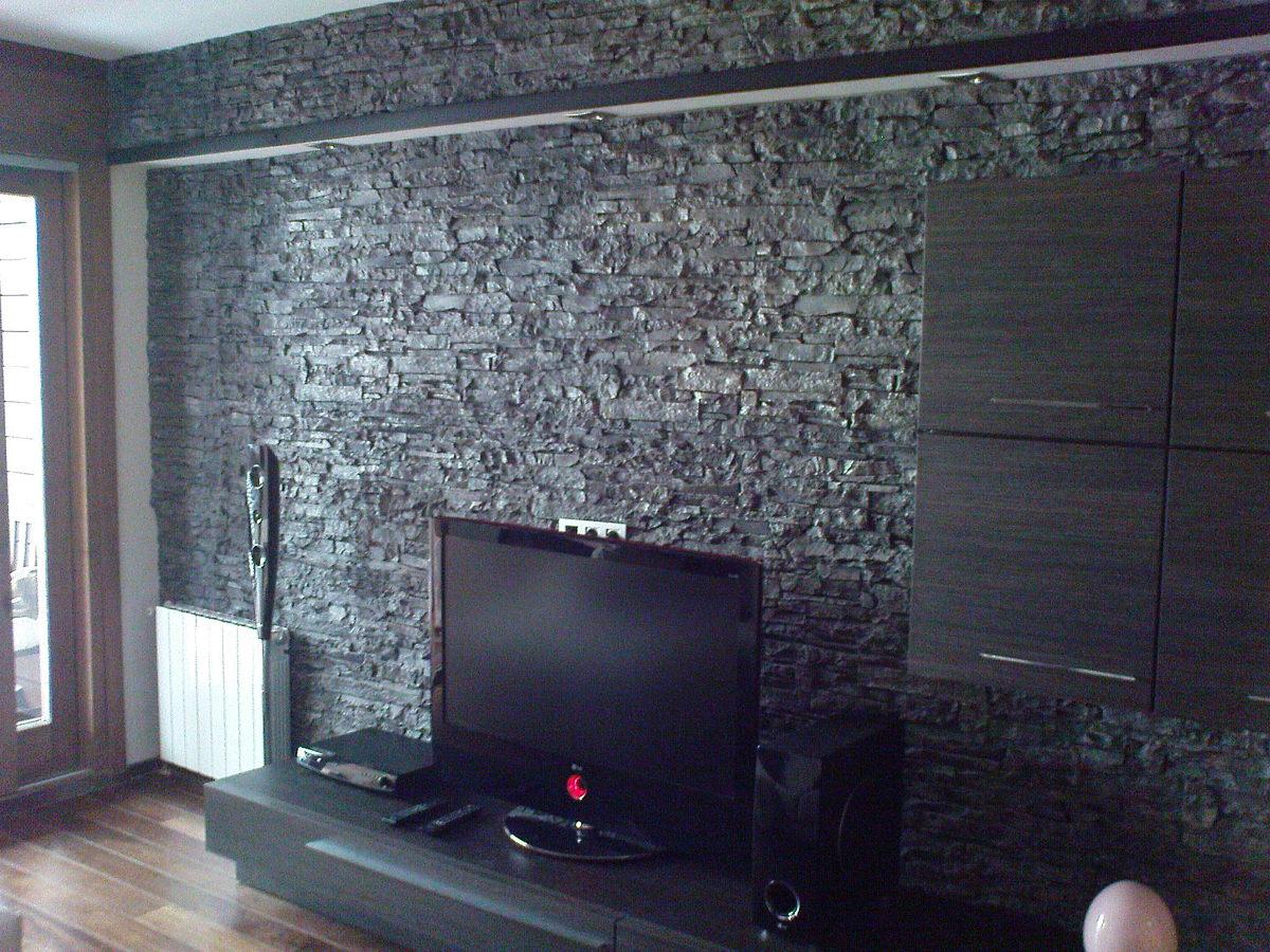 Foto piedra artificial totalstone de pindeco 202180 - Salones decorados con piedra ...
