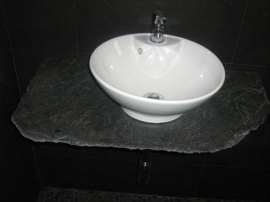 Foto piedra de pizarra de reformas colocacion de piedra - Encimera de pizarra ...