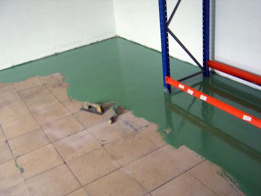 Foto pintura autonivelante pavimentos pinturas for Pintura para suelos de garaje