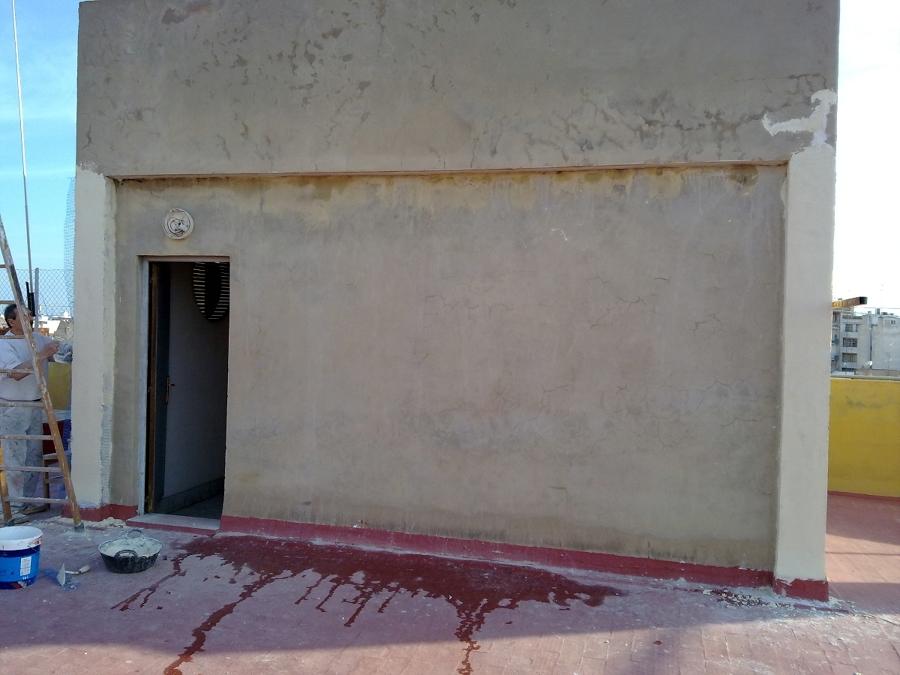 Foto pintura de fachada antes de quiles decoraciones - Pintura para fachada ...