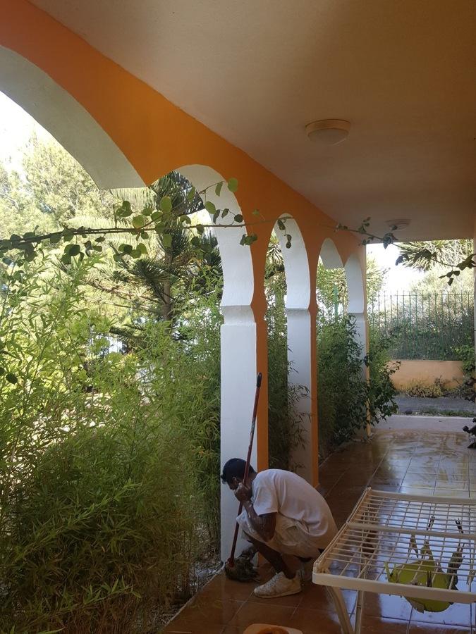 Pintura exterior terraza columnas Santa Brigida (2).JPG