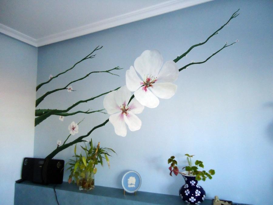pintura mural en dormitorio