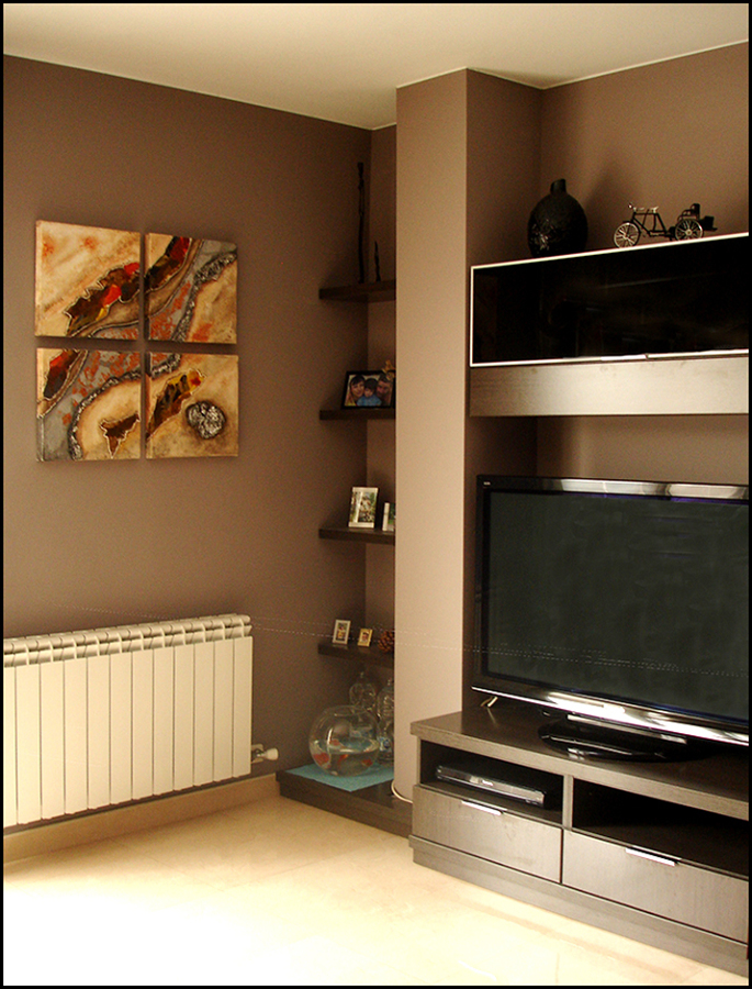 Pintura para salones modernos affordable como lograr un - Pintura comedor moderno ...