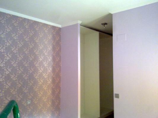 Pintura plastica + instalacion de papel decorativo