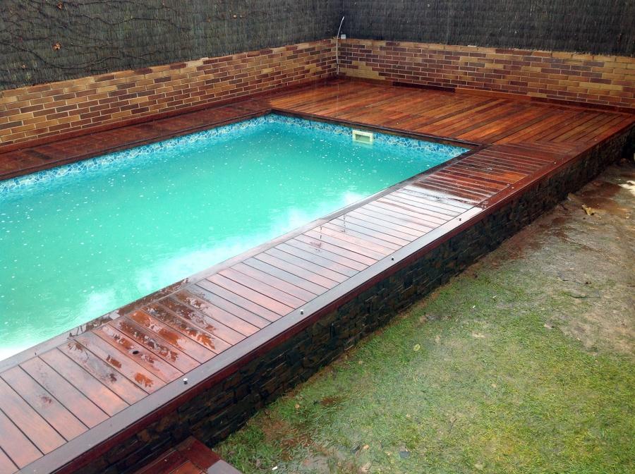 Foto piscina con madera ipe de radu marin piscinas s l - Piscinas de madera semienterradas ...