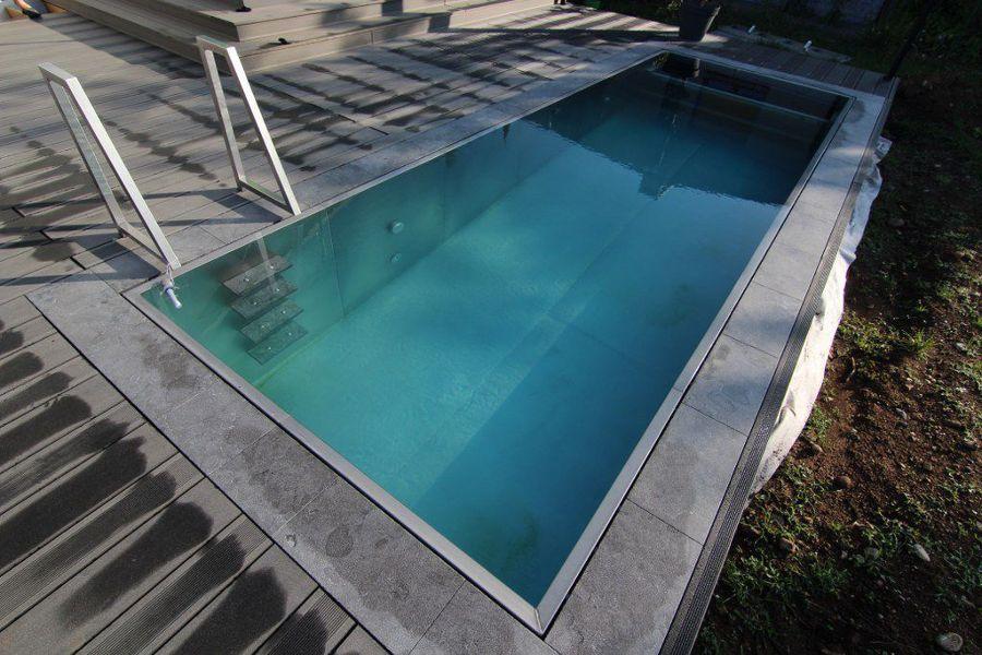 Foto piscina de acero de reformas l pez 747990 habitissimo for Piscina acero