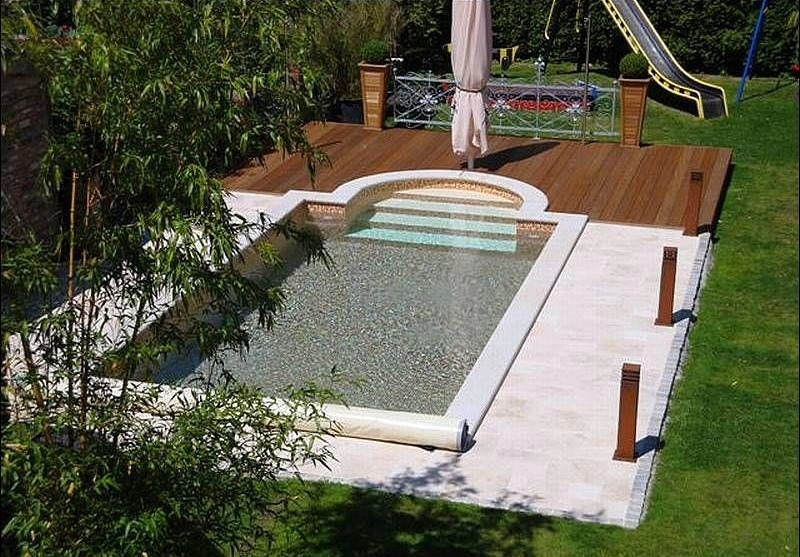foto piscina en color tierra de pooldecor 325219