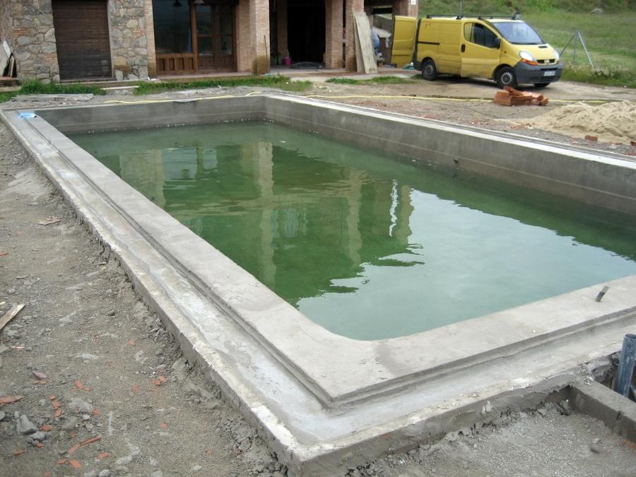 piscina gunitada comprobación de la estanqueidad del vaso
