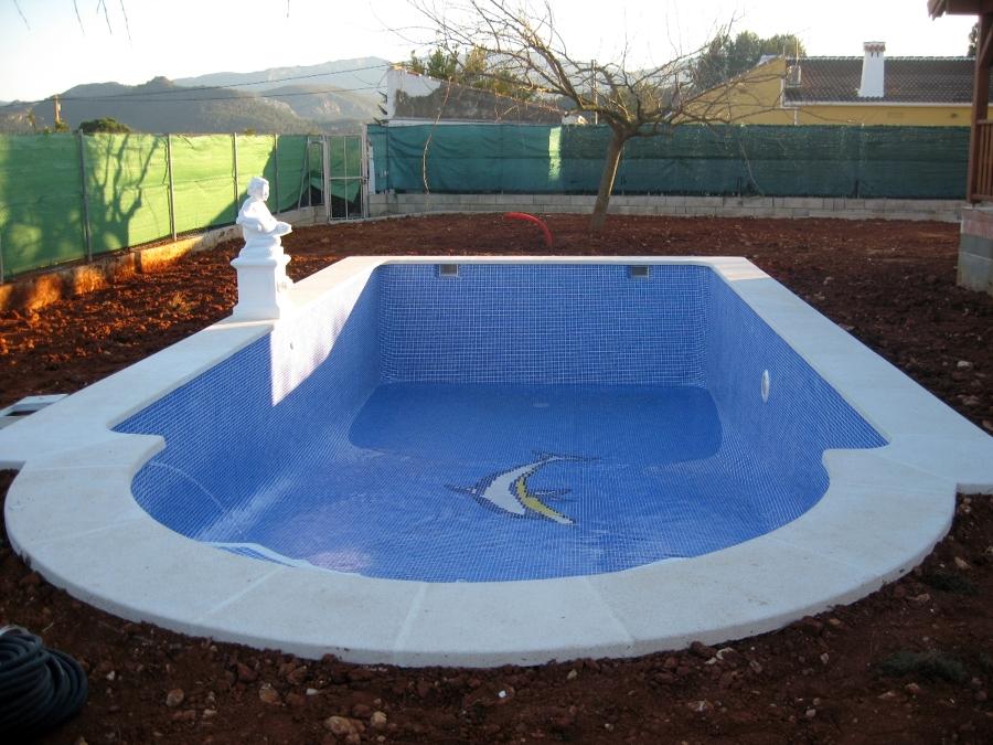 Foto piscina rectangular con escalera romana de piscinas for Piscinas de plastico rectangulares