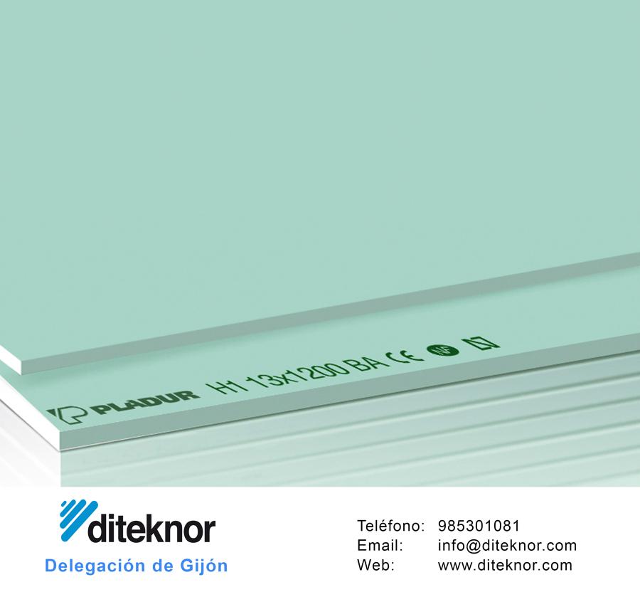 Placa de pladur hidrófuga, uno de los muchos productos de tabiquería seca