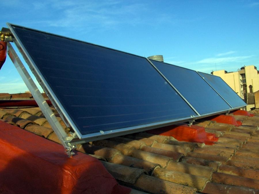 placa solar termica