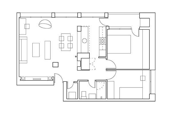 Foto plano amueblado de dibujatuvivienda 314555 for Precio reforma piso 60 metros