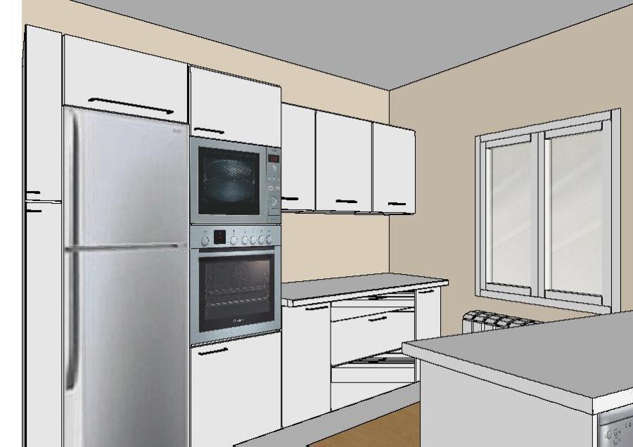 Foto plano cocina moderna de mat as pedro 475948 for Plano de una cocina profesional