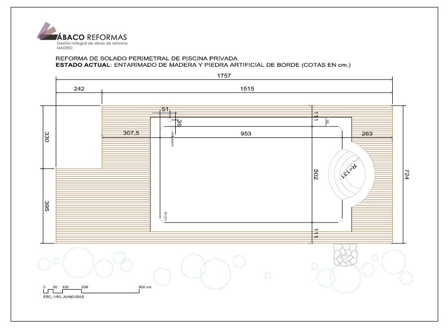 Foto plano de estado actual de solado en per metro de for Plano alberca