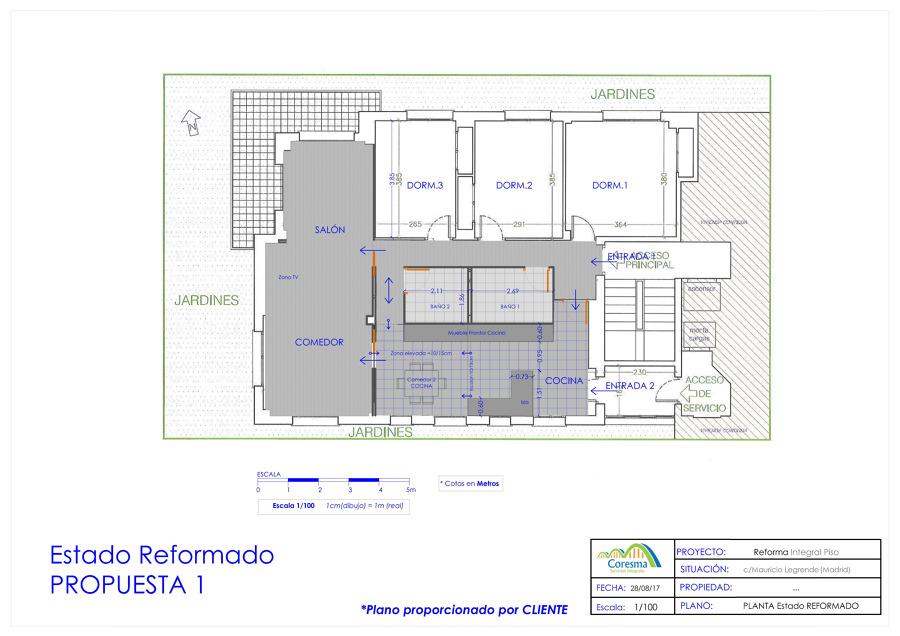 Poyecto reforma parcial piso
