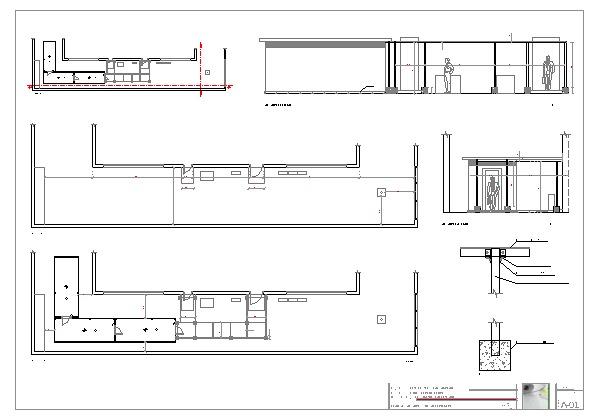 Foto planos detalle plantas y alzados de servicios de for Planos para cocina mejorada