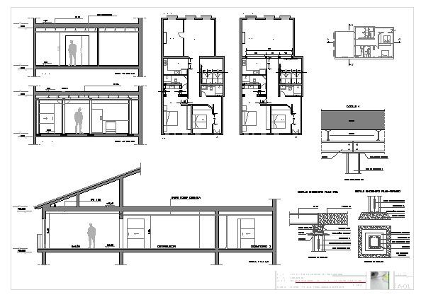 Foto planos detalle secciones y plantas de servicios de for Cocina definicion arquitectura