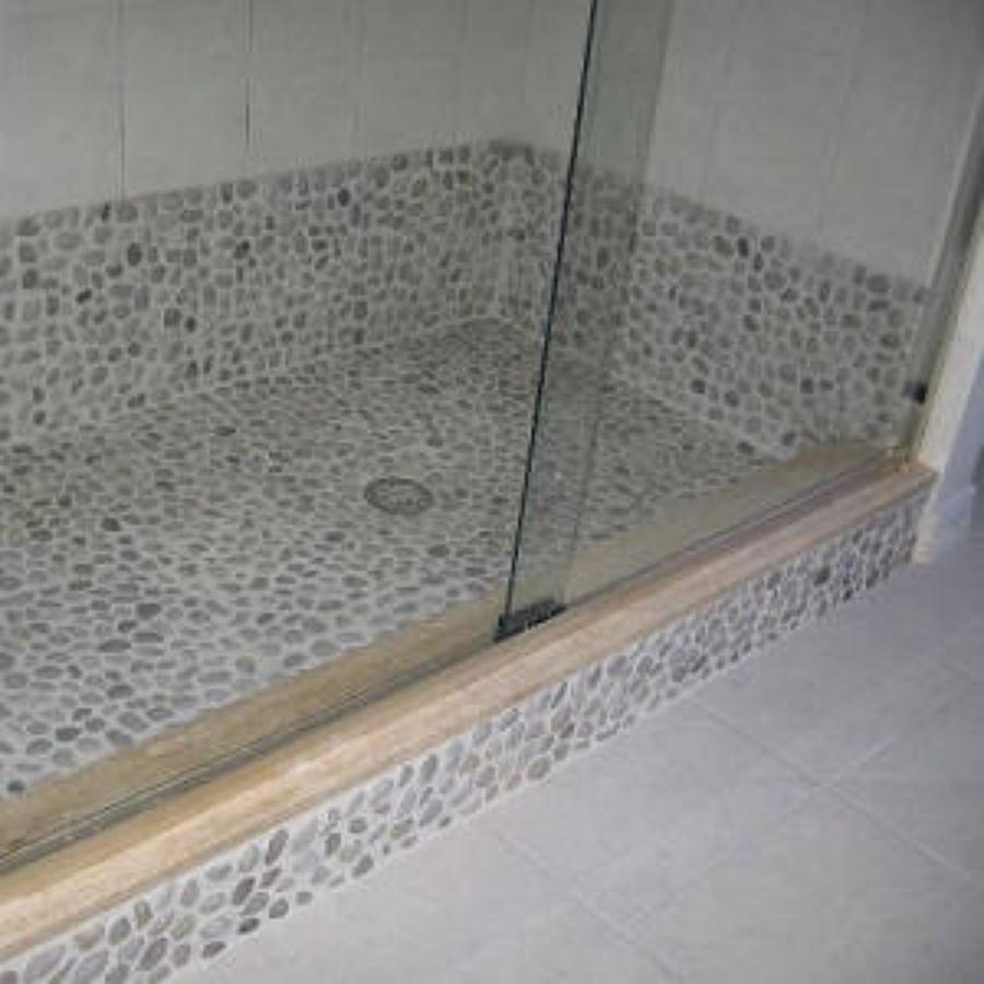 Foto plato de ducha de obra de corserra 748584 habitissimo for Plato de ducha de obra