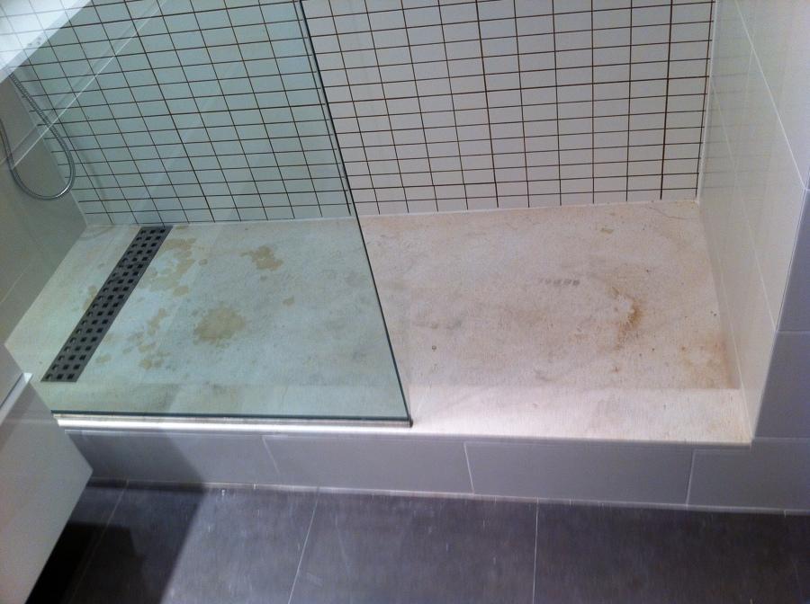 Foto plato de ducha de piedra natural apomazada de for Platos de bano precios