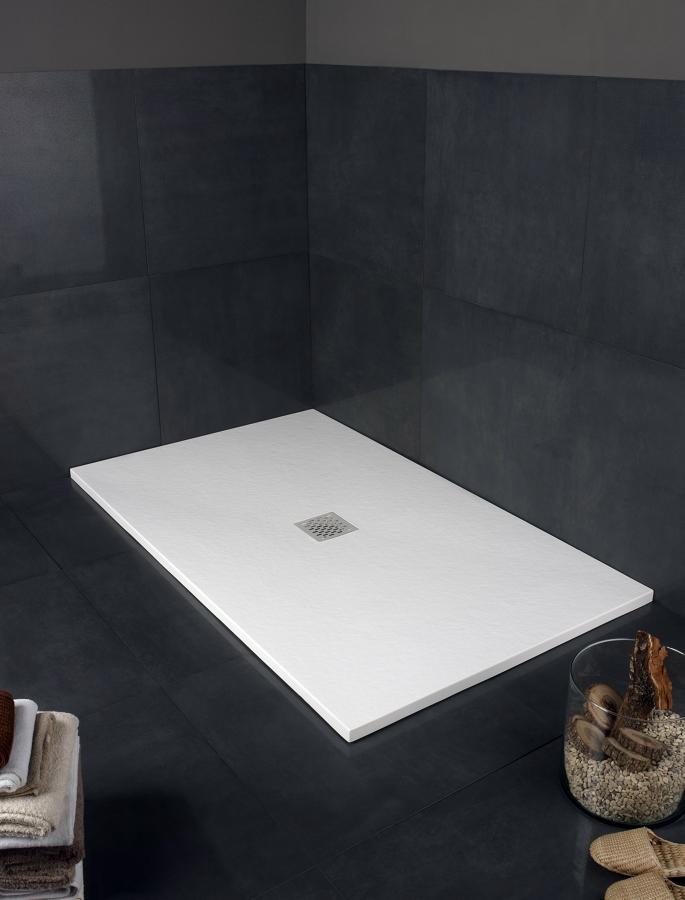 Foto plato de ducha de resina con textura piedra de - Duchas de piedra ...