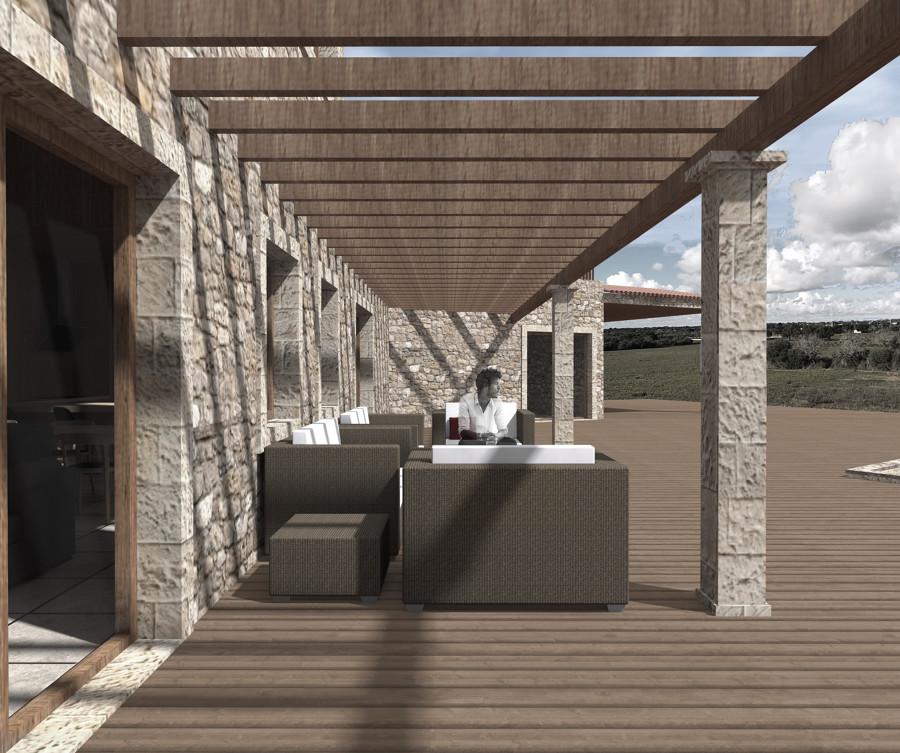 Vista porche exterior, RAL House