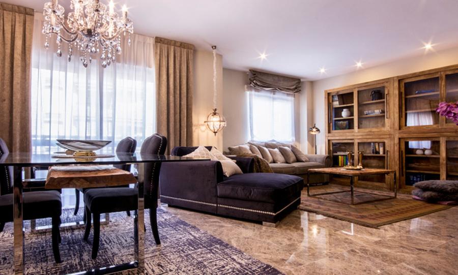 Salón diseñado para el descanso y los buenos momentos en familia
