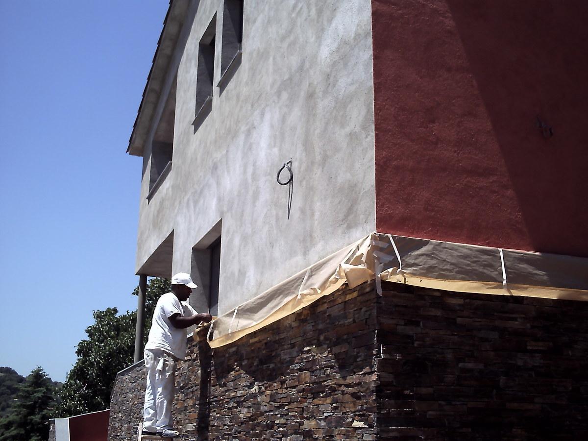 Foto preparacion de fachada antes de pintar de yosef - Pintores baratos en valencia ...
