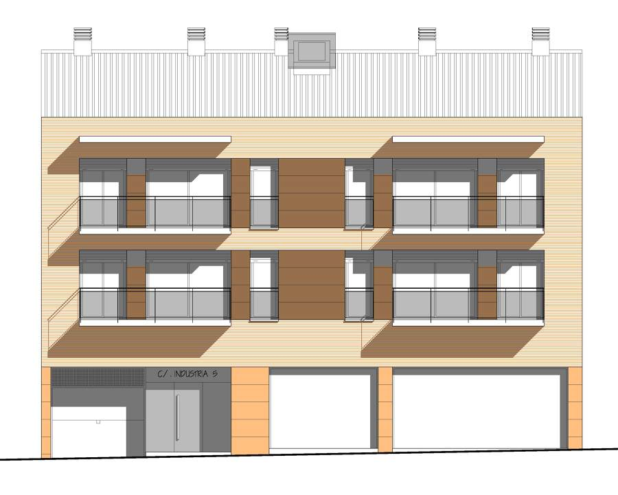 Foto projecte d 39 un edifici plurifamiliar entre mitgeres for Piscina municipal centelles