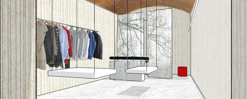 Projecte per a botiga de roba en local del casc antic de Barcelona