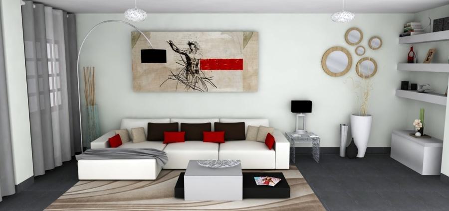 Foto propuesta decorativa de sal n para piso en ronda de for Salones para pisos