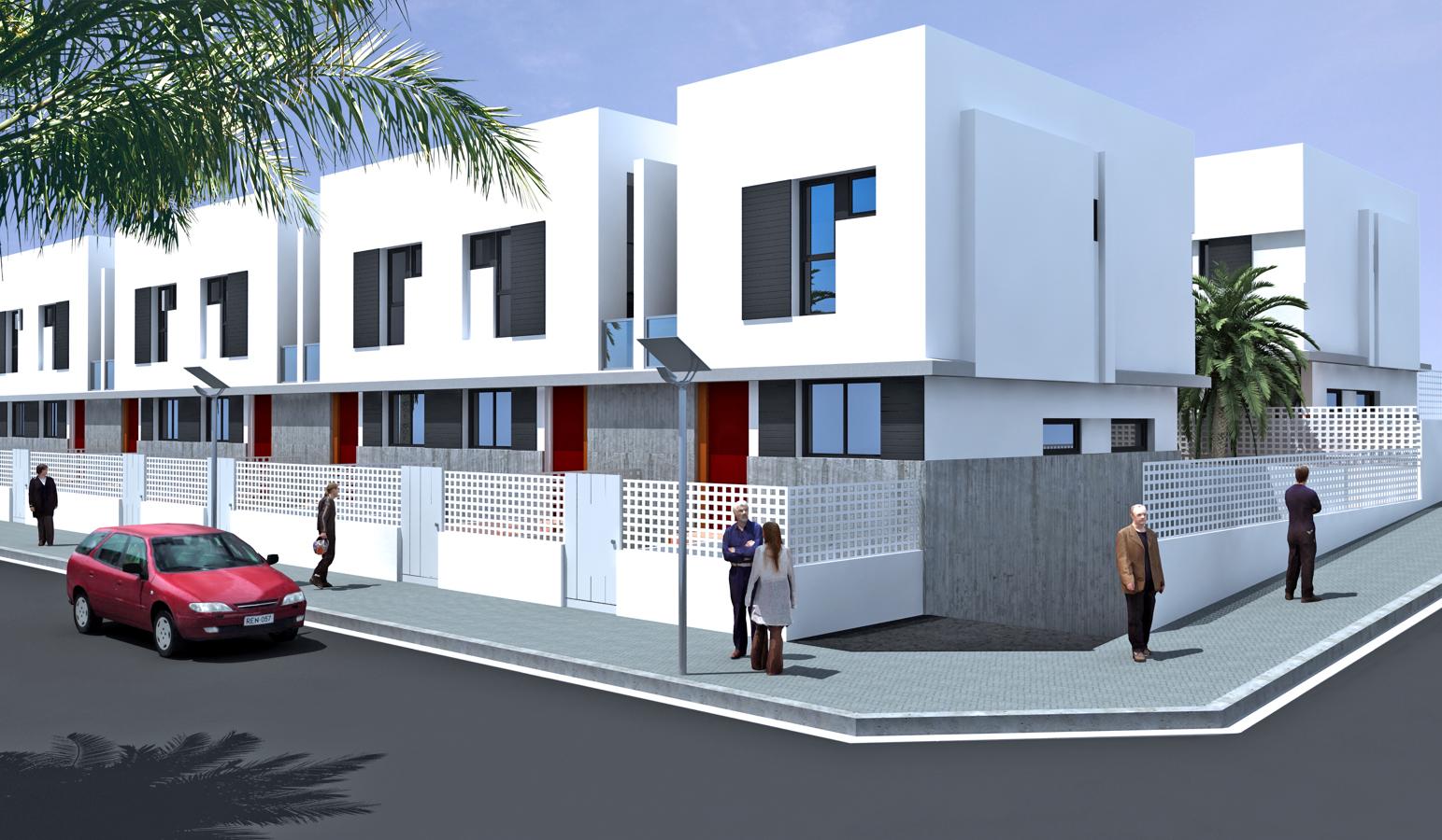 Foto proyecto de 210 duplex adosados en la goleta aguimes for Proyecto chalet moderno