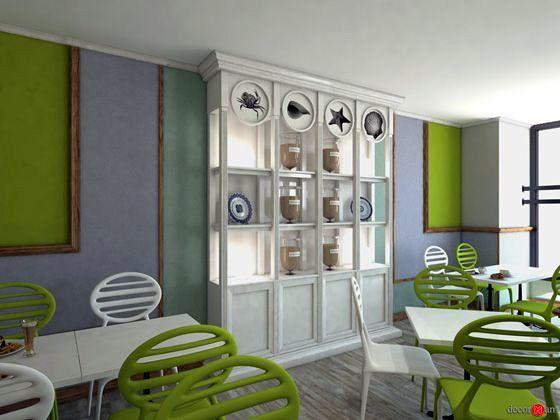 Proyecto de decoración de local en madrid. Restaurante La Terraza de Salud.