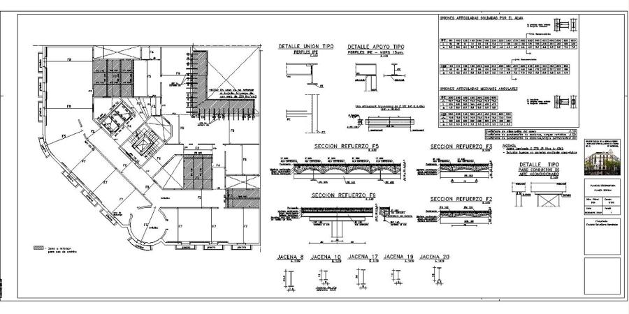 Foto proyecto ejecutivo reforma y rehabilitaci n edificio for Pie de plano arquitectonico pdf