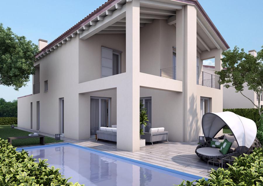 proyecto exteriores fachada piscina