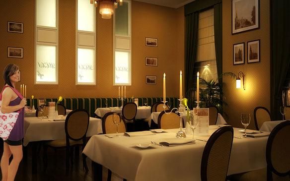 Proyecto, reforma y propuesta de decoración de restaurante en Madrid.