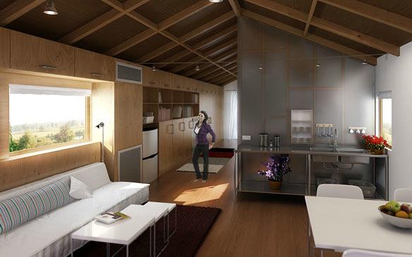 Proyecto y reforma de apartamento abuhardillado en el centro de Madrid.