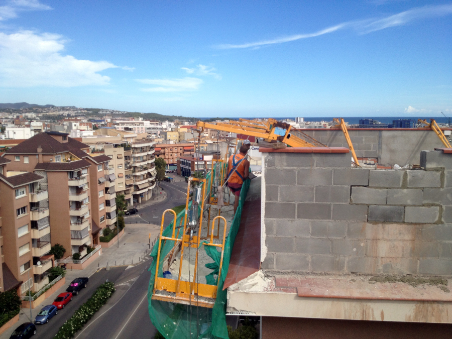 Puente colagnte para trabajos en altura