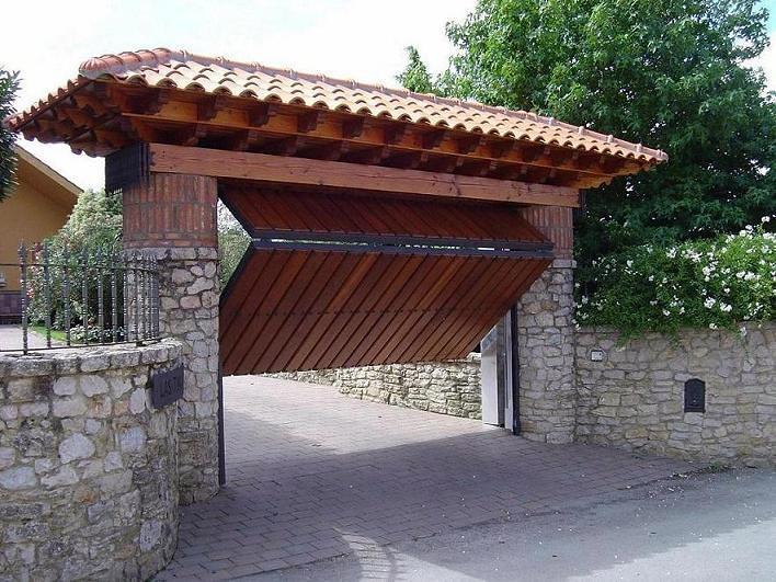 foto puerta basculante imitaci n madera de teckendoor s
