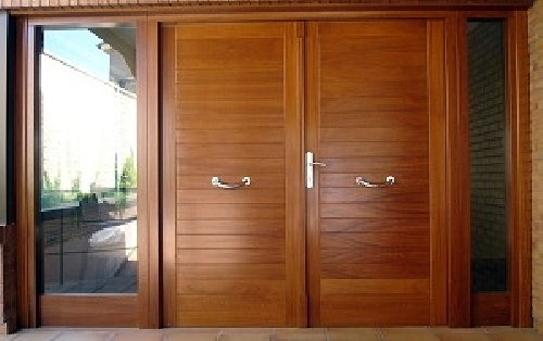 Foto puerta de exterior entarimada de carpinter a jos - Puertas de exterior ...