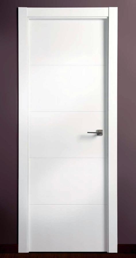 Foto puerta de interior lacada blanco de carpinteria r - Lacar puertas en blanco precio ...