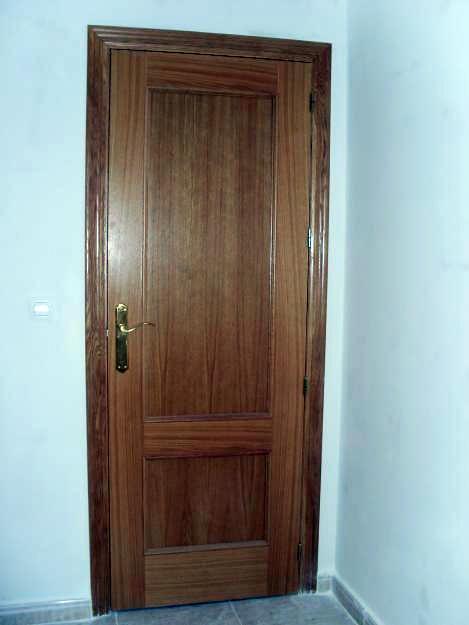 Puerta recta roble