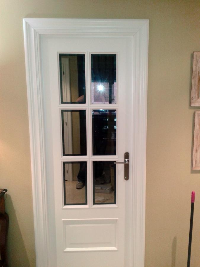 Foto puerta roble lacada blanco de ryc 421259 habitissimo - Puerta lacada en blanco ...