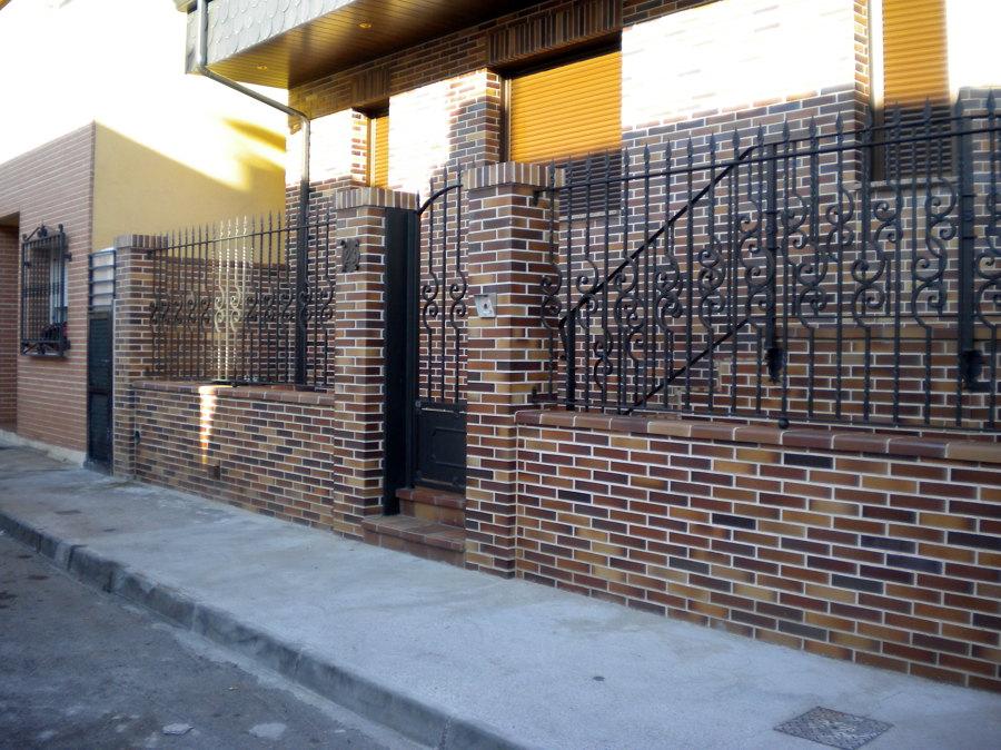 Puerta y vallas de entrada