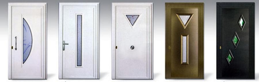 Foto puertas aluminio modernas de carpinteria metalica for Modelos de puertas metalicas para exteriores