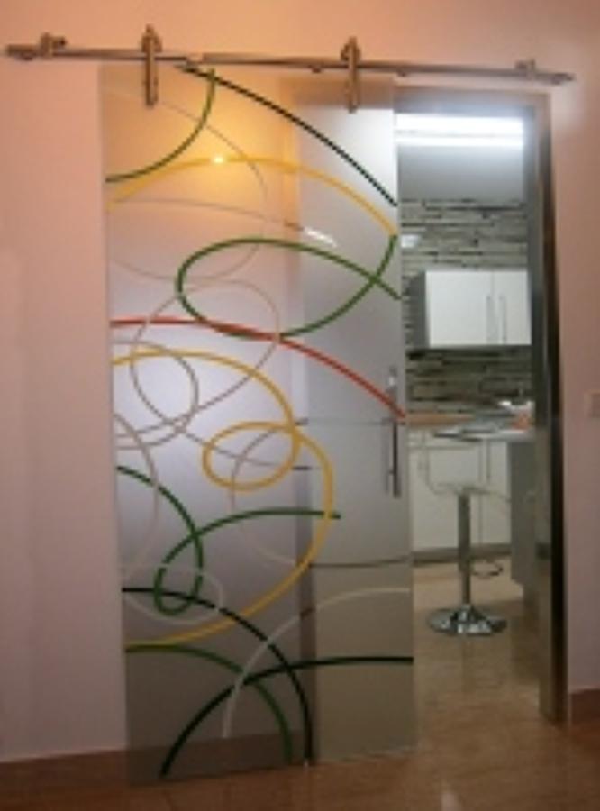 foto puertas correderas de cristal decoradas de ForPuertas De Cristal Decoradas