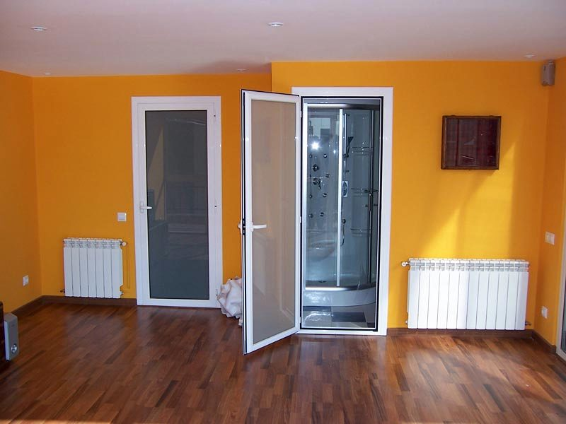 Puertas de aluminio para ba o interior - Puertas para jardin de aluminio ...
