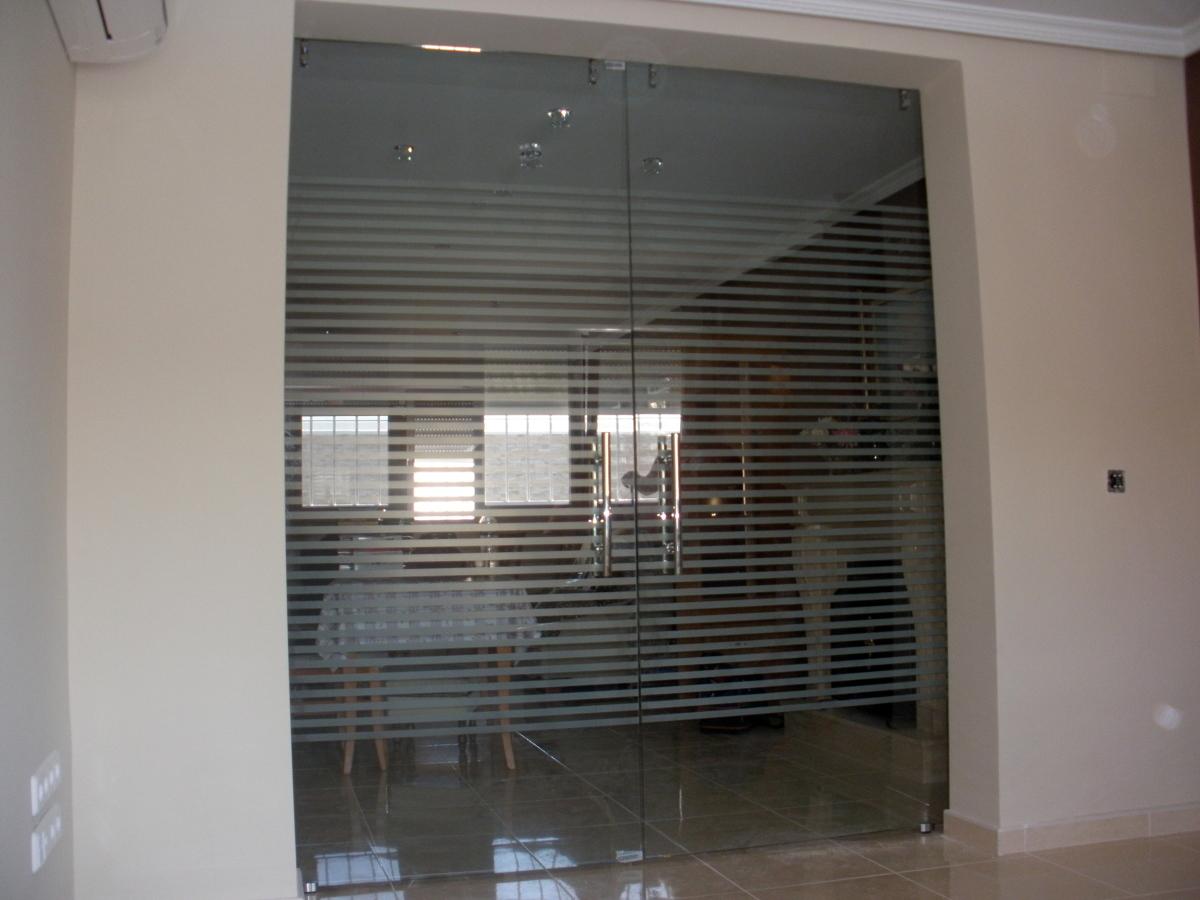 Puertas Para Baño Decoradas:Foto: Puertas de Paso Decoradas de Cristalería Aluminio Y Pvc Santos