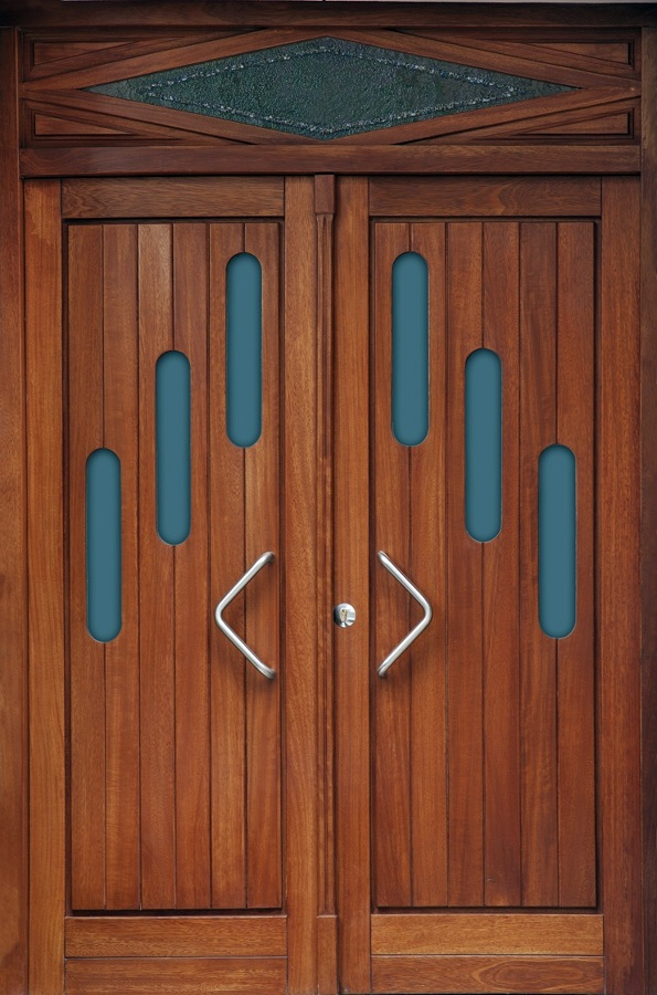 Foto puertas exteriores de madera maciza de carpinter a - Puertas de calle de madera ...