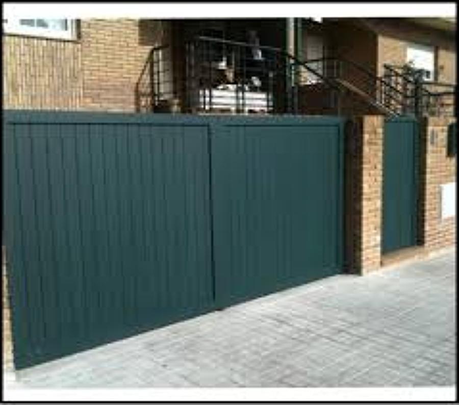 foto puertas metalicas de jardines de cierres met licos